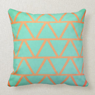 Unique Coral & Turquoise Luxury Decorative Pattern Cushion