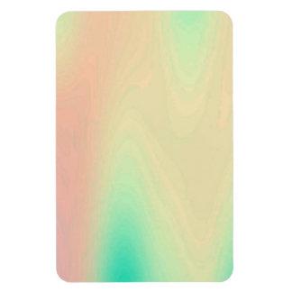 Unique Coral & Turquoise Luxury Decorative Pattern Rectangular Photo Magnet
