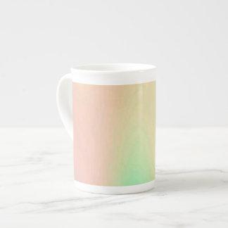 Unique Coral & Turquoise Luxury Decorative Pattern Tea Cup