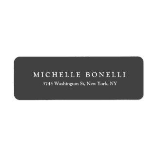 Unique Creative Gray Custom Return Address Label