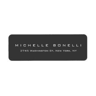Unique Creative Gray Personal Return Address Label