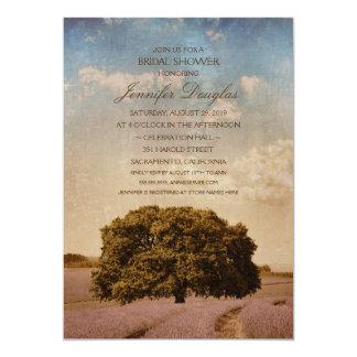 Unique Creative Rustic Tree Lavender Bridal Shower Card