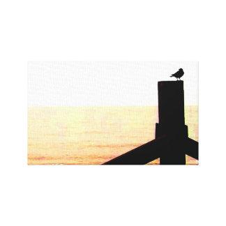 Unique Crow At Seaside Canvas Print