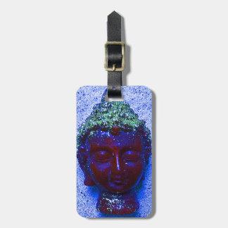 Unique custom purple Buddha Luggage Tags