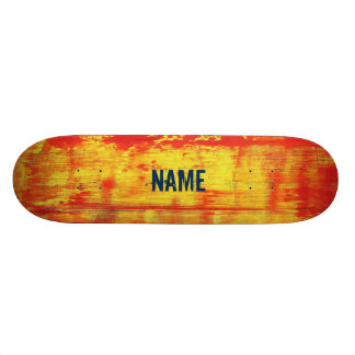 Unique Custom Red Yellow Art Abstract 18.1 Cm Old School Skateboard Deck