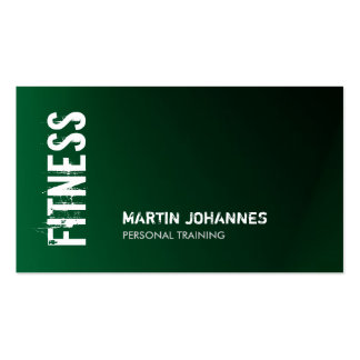 Unique Dark Green Fitness Personal Trainer Pack Of Standard Business Cards