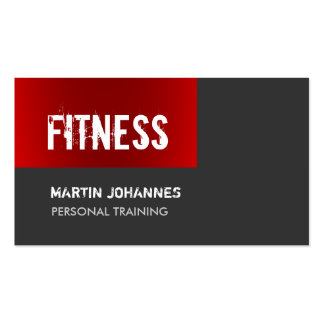 Unique Dark Red Grey Personal Trainer Pack Of Standard Business Cards