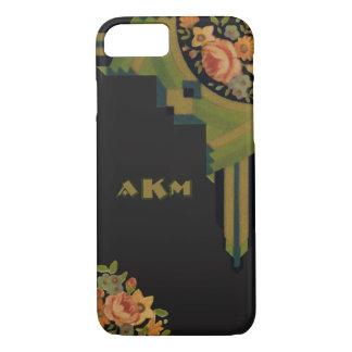 Unique Deco Style Floral Monogram iPhone 8/7 Case