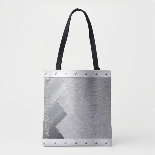 Unique design iron lady tote bags