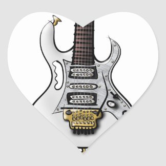 Unique electric rock guitar caricature stickers