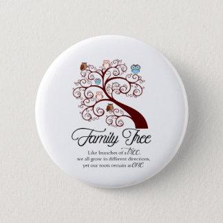 Unique Family Tree Design 6 Cm Round Badge
