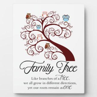 Unique Family Tree Design Plaque