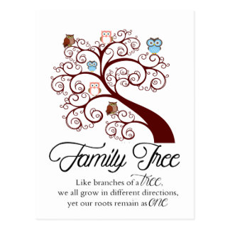 Unique Family Tree Design Postcard