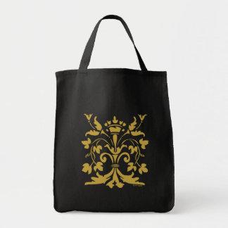 Unique Fleur de lis Queen (antique gold) Grocery Tote Bag