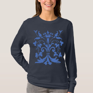 Unique Fleur de lis Queen (blue) T-Shirt