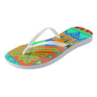 Unique flip fops with colors that pop flip flops