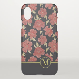 Unique Floral Blossoms Monogram | iPhone X Case