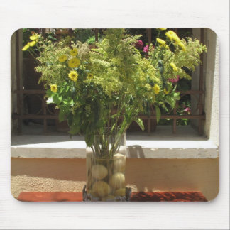 Unique floral centerpiece with lemons mouse pad