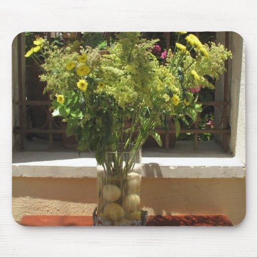 Unique floral centerpiece with lemons mouse pads