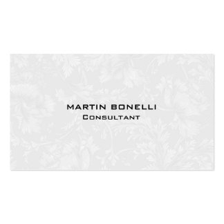 Unique Floral Damask Grey Special Plain Pack Of Standard Business Cards
