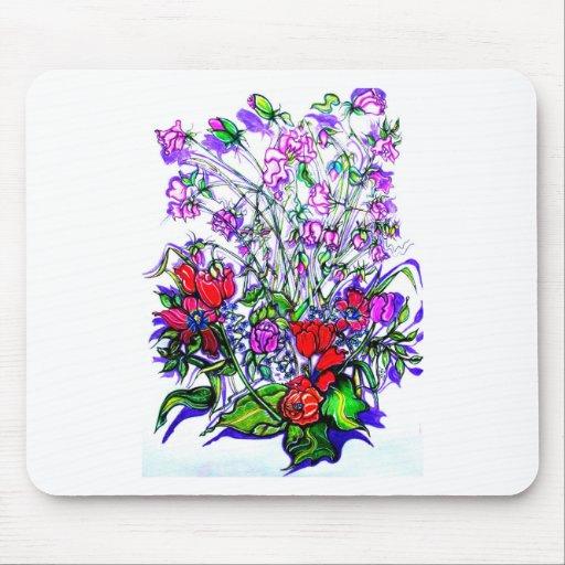 Unique Floral Design Mousepad