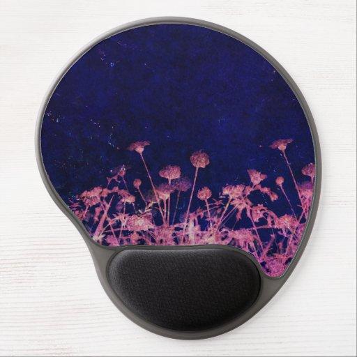 Unique floral pink and blue design gel mouse mat