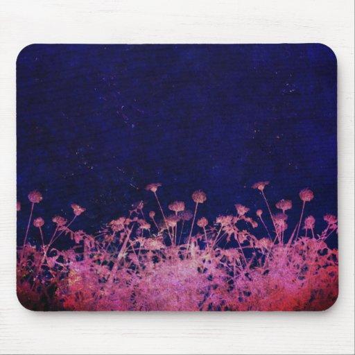 Unique floral pink and blue design mouse pads