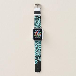 Unique Floral Print Apple Watch Band