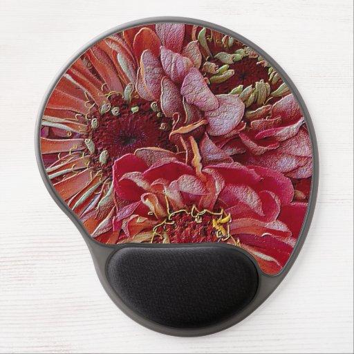 unique floral, red gel mouse mat