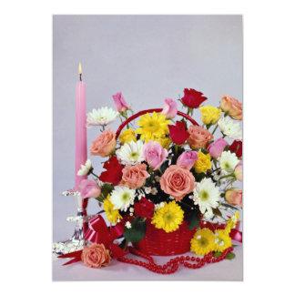 Unique Floral still life 13 Cm X 18 Cm Invitation Card