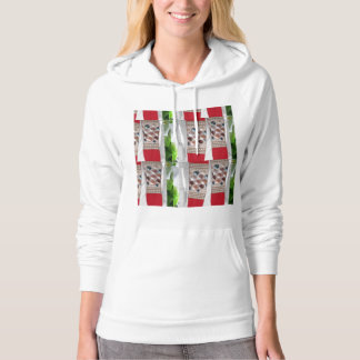 UNIQUE FLOWERS buds Fabric PEARLS lowprice gifts Hooded Sweatshirts