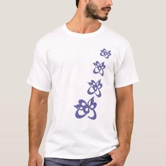 unique flowers pattern T-Shirt