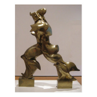 'Unique Forms of Continuity in Space', bronze scul Postcard