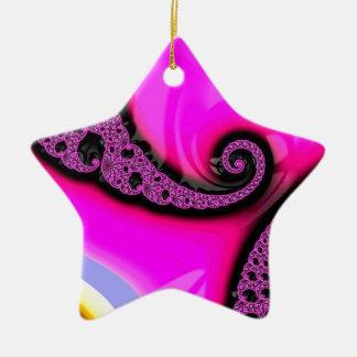 Unique Fractal - Untitiled Ceramic Star Decoration