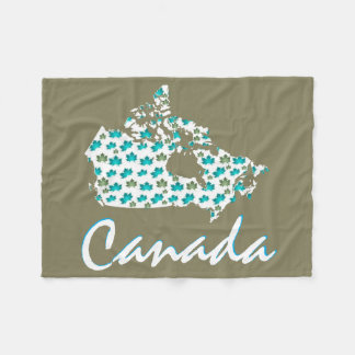 Unique fun Canadian Maple Canada fleece blanket
