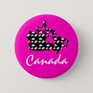 Unique fun Canadian Maple Canada leaf button pin