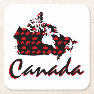 Unique fun Canadian Maple Canada red drink coaster