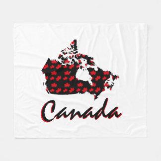 Unique fun Canadian red Maple Canada blanket