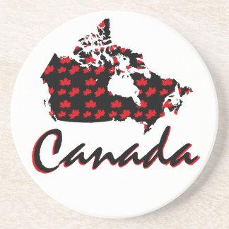 Unique fun Canadian red Maple Canada drink coaster