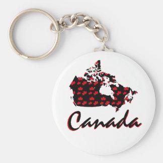 Unique fun Canadian red Maple Canada key chain