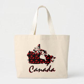 Unique fun Canadian red Maple Canada tote bag