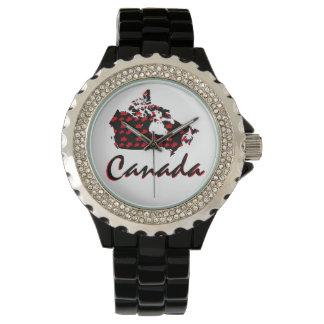 Unique fun Canadian red Maple Canada watch