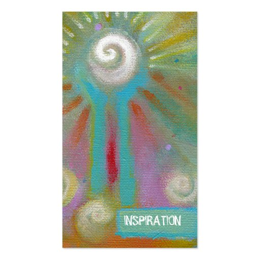 Unique fun colorful artsy inspirational painting business cards