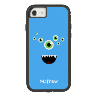 Unique Funny Crazy Cute Blue Monster Case-Mate Tough Extreme iPhone 8/7 Case
