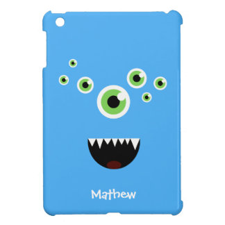 Unique Funny Crazy Cute Blue Monster iPad Mini Cover