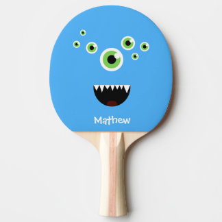 Unique Funny Crazy Cute Blue Monster Ping Pong Paddle