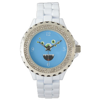Unique Funny Crazy Cute Blue Monster Watch