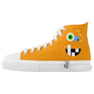 Unique Funny Crazy Oragne Monster High Tops