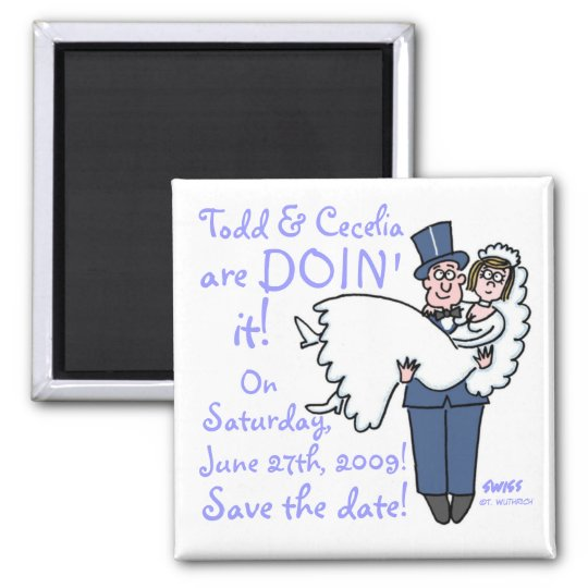 Unique Funny Groom Carries Bride Save The Date