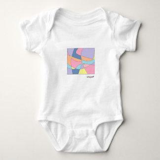 Unique geometric print with pastel colors baby bodysuit